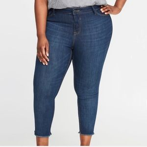 Old Navy Plus Size High Waist Released-Hem Jeans
